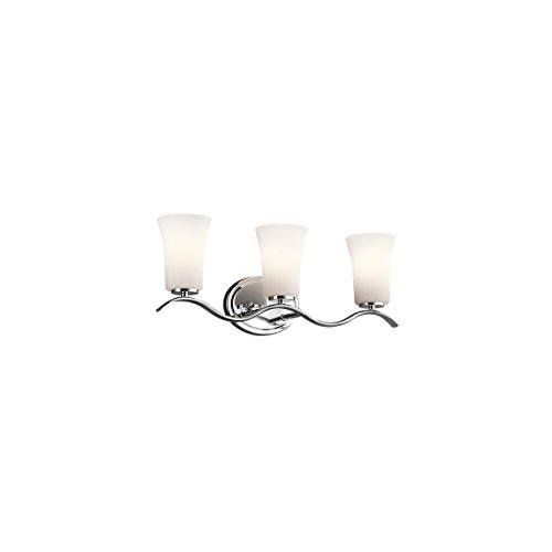 Classic Chrome Landscape Lighting - Kichler 45376CH Armida Bath 3-Light, Chrome