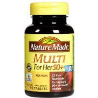 Nature Made Multi For Her 50+ Multiple Vitamin and Mineral, 90 Tablets