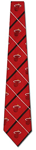 Miami Heat NBA Silver Line Woven Silk Mens Tie Basketball Sports Fashion by Eagles Wings