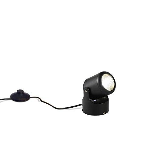 Kiven 7 Watt 5.12'' High Mini Accent Uplight,Foot Pedal Push Switch Inline Lamp Light On-Off Control,Black by Kiven