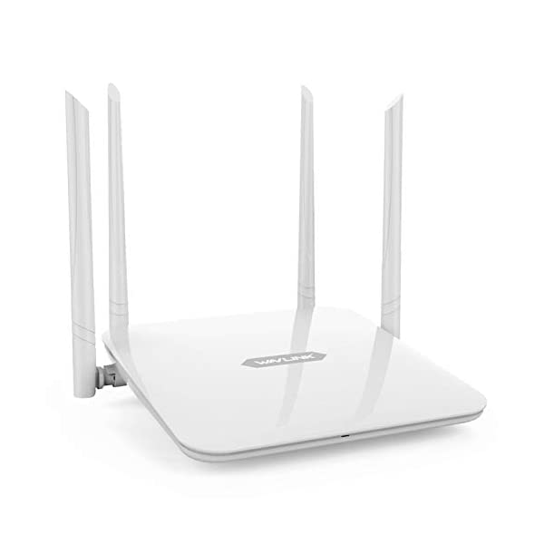 WAVLINK High Power Wireless Wi-Fi Router AC1200 Dual Band(5GHz+2.4Gz) Gigabit Wireless Internet Router,Long Range… 2021 July Advanced Wifi Router Technology 1Gigabit WAN ports and 4 100Mbps LAN ports offer fast and secure wired connections when you need them 4 High-Performance Antennas deliver strong penetrating and broader coverage around your home 1 YEAR WARRANTY This WIFI Router . We are fully confident in the design and durability of our products. If you have any issues, please do not hesitate to contact us anytime, night or day Widely Compatible Router WAVLINK WIFI ROUTER compatible with a/b/g/n devices,support Dual-band 5GHz 867Mbps and 2.4GHz 300Mbps .Get lightning quick connections for all your wireless devices