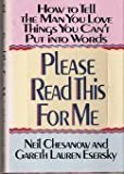 Please Read This for Me, Neil Chesnow and Gareth L. Esersky, 1557100160