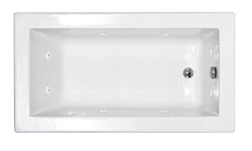 Atlantis Whirlpools 3266vnwl Venetian Rectangular Whirlpool Bathtub, 32 X 66, Left Drain , White