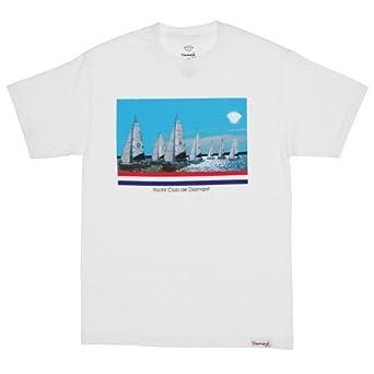size 40 6da38 dfe8e Diamond Supply Co. Yacht Club De Diamant Tee - White (Small)  Amazon.co.uk   Clothing