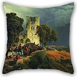 Beautifulseason The Oil Painting Carl Friedrich Lessing - The Siege (Defense Of A Church Courtyard During The Thirty Years�War) Throw Pillow Case Of ,20 X 20 Inches / 50 By 50 Cm ()
