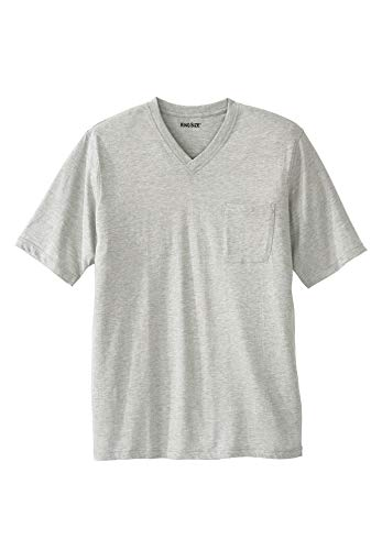 KingSize Men's Big & Tall Lightweight Cotton V-Neck Tee Shirt with ()