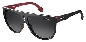 Carrera Men's Flagtops Round Sunglasses, Matte Black Red/Dark Gray Gradiet, 60 mm