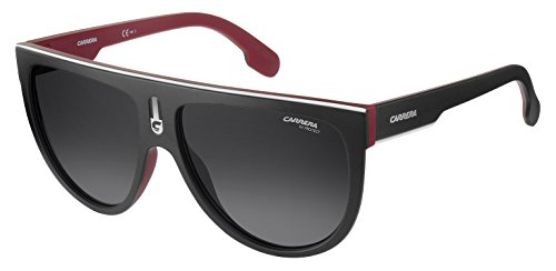Carrera Men's Flagtops Round Sunglasses, Matte Black Red/Dark Gray Gradiet, 60 - 2017 Top Sunglasses