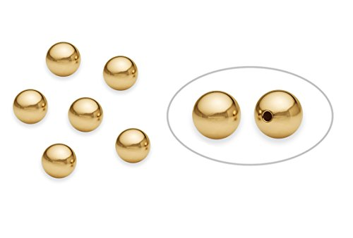 - 10 Pieces 14K Gold Filled Round Smooth Beads 7 mm