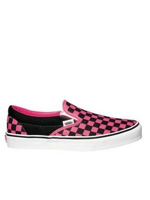 18f2a291625 Vans Classic Slip On Shoes - Black Pink Checkerboard  Amazon.co.uk ...
