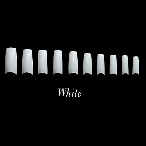 500Pcs False Nail Clear Half Transparent French Acrylic UV Gel Manicure Fake Nails Art Tips White
