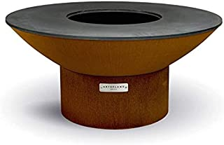 """product image for ARTEFLAME Classic 40"""" Grill with a Low Round Base. Combination Charcoal Grill, Griddle, Wood Fire Pit and Art. Designed to Last a Lifetime. Made in The USA."""
