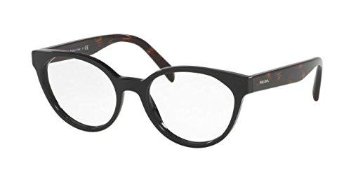 Prada PR01TV Eyeglass Frames 1AB1O1-53 - Black PR01TV-1AB1O1-53 by Prada