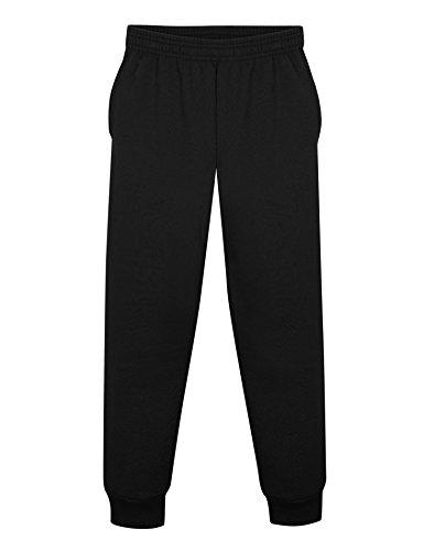 (Hanes Boys ComfortSoft EcoSmart Jogger Sweatpants, S, Black )