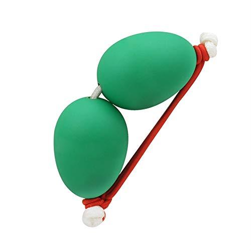 ETbotu 1 Pair Wrist Sand Egg African Drum Ukulele Dedicated Accompaniment Shakers Rhythm Instrument Sand Egg Green