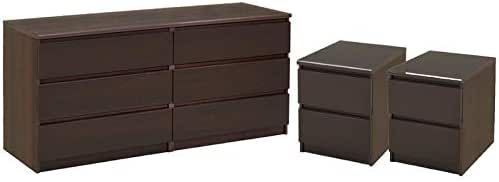 Amazon.com: Home Square 3 Piece Bedroom Set with 6 Drawer ...