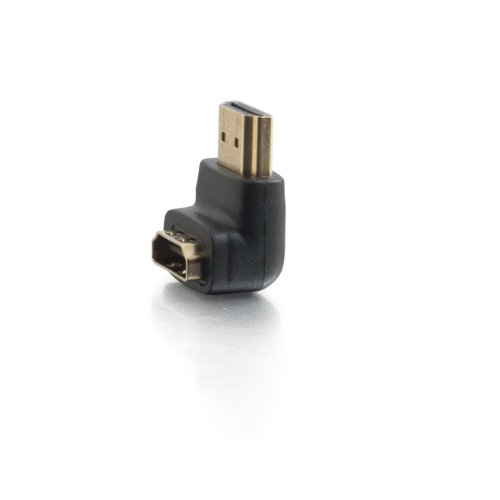 C2G/Cables to Go 40999 HDMI  Male to HDMI  Female 90° Down Adapter