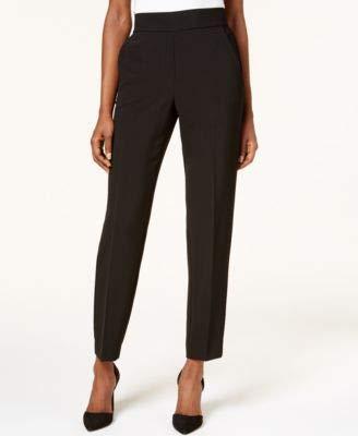- DKNY Womens Straight Leg Pull-On Dress Pants Black 4