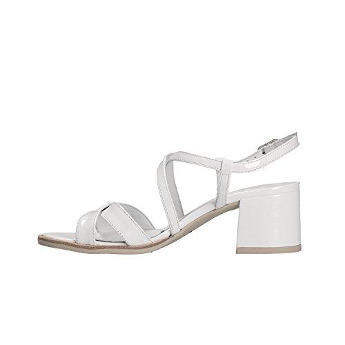 Scarpe Sandali Donna P805833D Bianco Nero Elegante 5833 Giardini BOaEE
