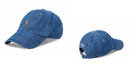 RALPH LAUREN Polo Denim Baseball Cap Men's One Size (Ralph Polo Lauren Denim)