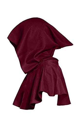 YMING Vintage Medieval Cowl Hat Halloween Hooded Wicca Pagan Cosplay Accessory Unisex (Wine -