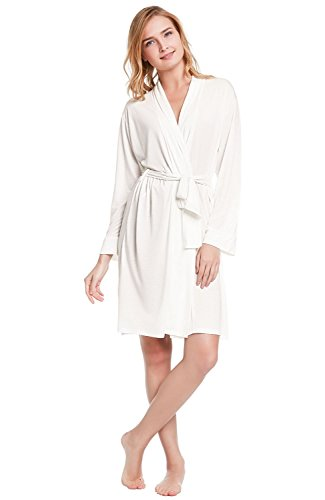 Del Rossa Womens Modal Knit Robe, Standard Length Loungewear