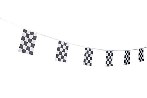 JBCD Checkered Flag Racing Flag Black & White Checkered Flag Racing Pennant Banner Flags,String Flag for Decorations Supplies for Racing Race Car Party Sport Events Kids Birthday Celebrations Matches