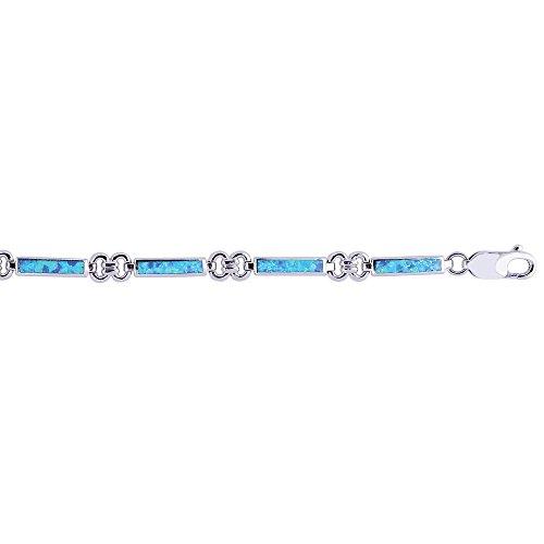 Bracelet en argent Sterling 8 pouces-JewelryWeb