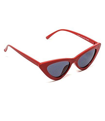 6751477d7b Clout Goggles Cat Eye Sunglasses Vintage Mod Style Retro Kurt Cobain  Sunglasses (Red  smoke