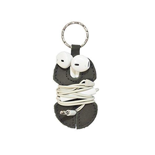 Leather Key Chain & Headphone Wrap Handmade by Hide & Drink :: Smoke by Hide & Drink