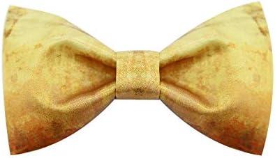 WATERMELON Moda con Textura Impreso Pajarita Novio Oro Amarillo ...