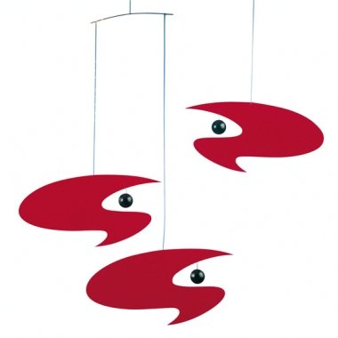 Flensted Stella Nova Mobile - Red by Flensted Mobiles