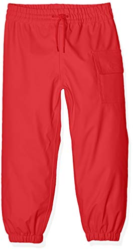 Hatley Rubber Boots - Hatley Childrens' Splash Pants, Red,6