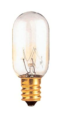 40 Watt T8 Tubular Incandescent Light Bulb, Candelabra Base