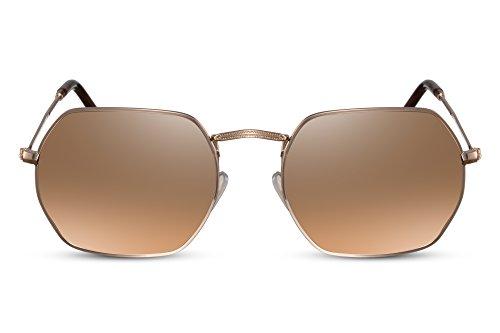 UV400 004 de Ca Espejadas Hexagonales Cheapass Sol Metálicas Gafas Hombre Mujer Y4vqwO1p