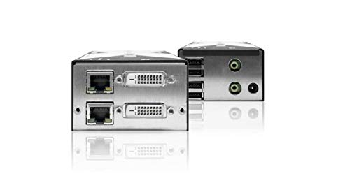 Adder - X-DVIPRO-MS2-US - Link Dual Head DVI/Audio and 4-port USB CATx Extender