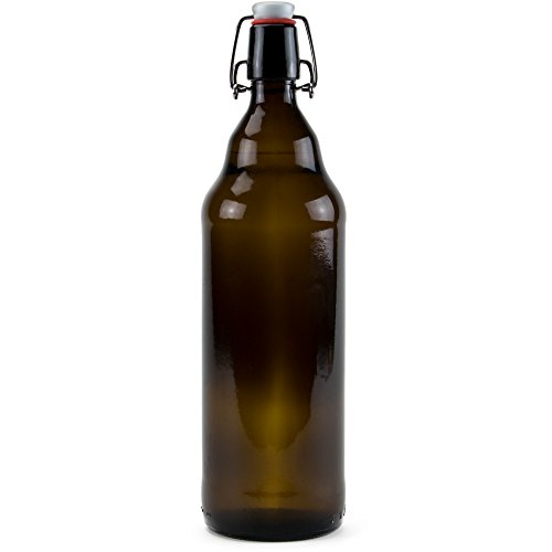 33 oz. Grolsch Glass Beer Bottles, Quart Size – Airtight Swing Top Seal Storage for Home Brewing of Alcohol, Kombucha Tea, Homemade Soda by Cocktailor (12-pack) by Cocktailor (Image #1)