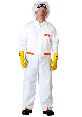Men's Back to The Future Doc Brown Costume -