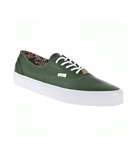Vans Unisex Era Decon Ca Nappa Leather Sneakers Darkgreen M9 W10.5