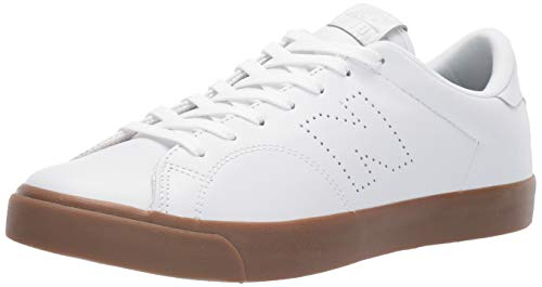 New Balance Men's 210v1 Skate Shoe Sneaker, White/Gum, 8.5 D US