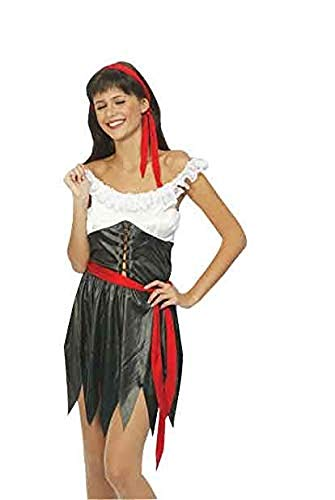 Ladies Sexy Pirate Girl Costume Buccaneer Caribbean Fancy Dress Outfits