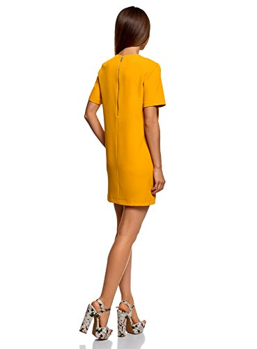 Coupe Droite Femme Unie Jaune5200n Collection Oodji Robe oCrxBdeW