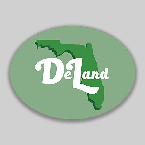 Deland Florida City Vinyl Decal Sticker Car Window Bumper Yeti Planner Organizer 2 Pack 4.5-Inches by 3.5-Inches Premium Quality UV Protective Laminate PDS1568
