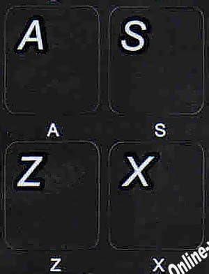 Brazilian-PORTUGUESSE Non Transparent Black BACKGROUBD Keyboard Stickers for LAPTOPS Desktop Computers Keyboards