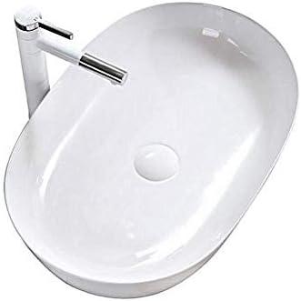 カウンター盆地芸術盆地ホームバルコニー洗面台のバスルームシンクの上北欧スタイルのオーバル洗面浴室用セラミック