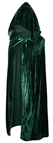 Crizcape Kids Costumes Capes Cloak with Hood for Halloween Party Ages 2 to 18 (Green, S/60CM)