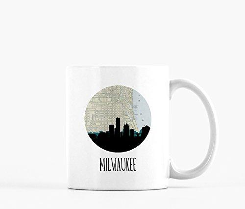 Milwaukee Skyline Map Mug -