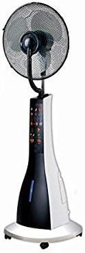 Sogo VEN-SS-21215 Ventilador de pie con nebulizador, 40cm, 90 W, Negro