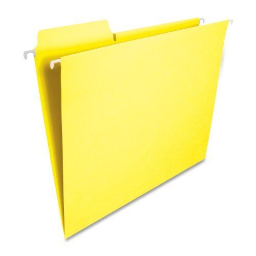 64097 Hanging Fastab - Smead FasTab® Hanging File Folder, 1/3-Cut Built-In Tab, Letter Size, Yellow, 20 per Box (64097) by Smead