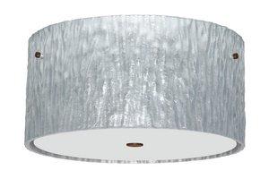 Besa Lighting Tamburo 16v2 Ceiling-4008SS Tamburo-16v2 - Three Light Ceiling Fixture, Silver Foil Shade (Lighting Ceiling Tamburo)